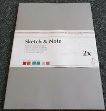 Hahnemühle Skizzenheft Sketch & Note, Grey-Fuchsia A3 hoch 125g/m² 2er