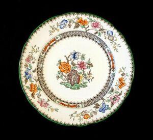 Beautiful Copeland Spode Chinese Rose Green Trim Salad Plate