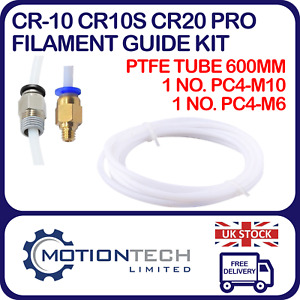 CR-10 CR10S CR20 Pro Mini Upgraded PTFE Bowden Tube with Improved PC4 Fittings