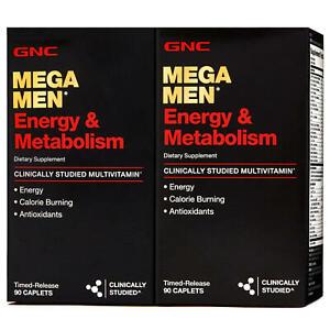 GNC Mega Men Energy & Metabolism Multivitamin, 180 Timed-Release Caplets