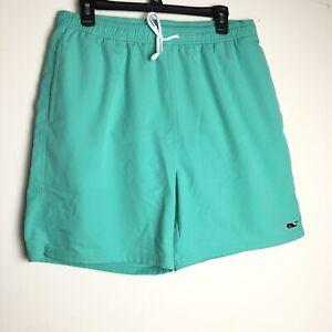 "VINEYARD VINES Mens Lined Swim Trunks Drawstring Shorts Size Large L 6"" Inseam"