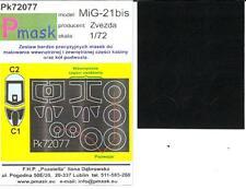 Model Maker 1/72 MIKOYAN MiG-21 bis FISHBED Paint Mask Set for Zvezda Kit