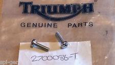 2x Original Triumph nuevas pequeñas cross-head tornillos Phillips P/no. 270086-t