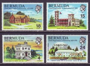 Bermuda 1970 SC 272-275 MH Set Paliarment Building