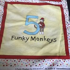 Funky Monkey Fabric Crafting Quilting Material Jumping on the Bed Book Sock