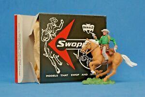 Herald Swoppet Cowboy #H633 Firing Twin Guns Mounted + 1st Issue REPRO Box #2
