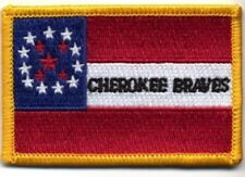 """CIVIL WAR CHEROKEE'S BRAVE FLAG PATCH 2"""" BY 2 3/4"""" NEW"""