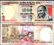 INDIA 1000 1,000 RUPEES 2011 P 100 WITHOUT SYMBOL AUNC ABOUT UNC