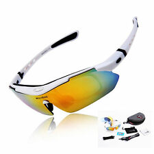 Wolfbike Cycling 5lens Glasses Outdoor Sports Eyewear Sunglasses Bicycle Goggles White
