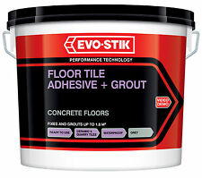 Evo-Stik Concrete Floor Tile Adhesive Grout Ready Mixed Large 5Litre New 622234
