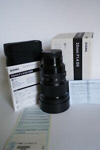 Sigma 20mm F1.4 DG HSM Art Series Lens for Sony FE