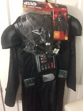 NWT Rubies Star Wars Darth Vader Adult Costume Small Padded Jumpsuit Mask Cape