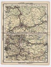 1930 ORIGINAL VINTAGE MAP OF AUSTRIA / VORARLBERG LIECHTENSTEIN INNSBRUCK TIROL