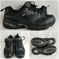 Avia Verge Black Leather Mesh Cantilever Running Mens Shoes Sneakers Size 9.5