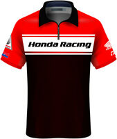 Factory Effex 2020 Licensed Honda Team Pit Shirt Adult Red/Black All Sizes