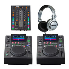 2x Gemini MDJ-500 + PMX-10 MIXER DJ Media Player Starter Package Inc Casque
