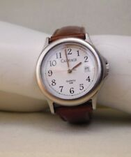 TIMEX EASY READER DAY/DATE Ladies WATCH Brown LEATHER BAND NIB! WATCH WORKS!