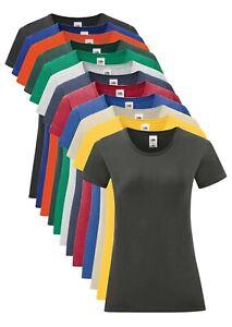 Fruit of the Loom Femmes Toucher Doux Uni Coton Iconique T-Shirt