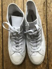 Converse Chuck Taylor White High Top UK Size 10.5/ EUR 44.5