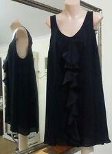 Knee Length Solid 100% Silk Shift Dresses for Women