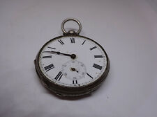 Repair Spares Not Working Silver Pocket Watch For