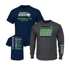 NFL 3-in-1 3 Looks in 1 Tee Shirt Combo~ Seattle SEAHAWKS ~XL