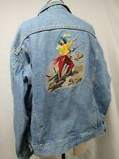 Vintage Denim Jean Jacket Swashbucklers Key West FL Embroidered L Lee