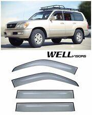 For 98-07 Lexus LX470 WellVisors Side Window Defectors Visors Premium Series
