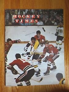 PHIL ESPOSITO Hockey Times January 1971 Magazine BOSTON BRUINS John MacKenzie