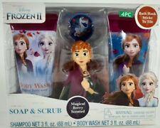 New Disney Frozen 2 4-Piece Soap & Scrub Body Wash & Shampoo Set Princess Anna