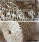 5-500 Metres ❁ Soft Natural Jute Twine String Cord ❁ Hessian Burlap Rustic