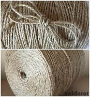1/5/10m  3ply- 6mm SUPER STRONG Natural Jute Twine String Hessian Burlap Rustic
