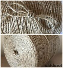 2 / 4 / 6mm ❁ Soft Natural Jute Sisal String Hessian Burlap Rustic Wedding Party