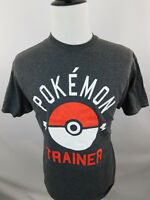 Pokemon Trainer Men's T-Shirt Gray Poke Ball Adult Anime Short Sleeve Large