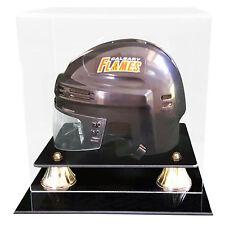 Hockey Mini Helmet Display Case & Free Name Plate - MADE IN USA