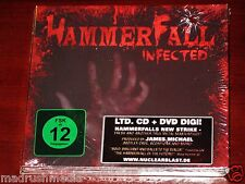 Hammerfall: Infected - Limited Edition CD DVD Set 2011 Nuclear Blast Digipak NEW