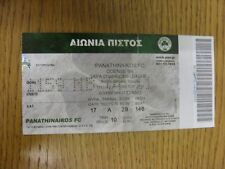 02/08/2011 Ticket: Panathinaikos v Odense [Champions League] (folded, creased).