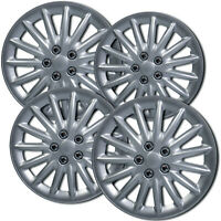 """4 PC Hubcaps Fits 09-14 Toyota Camry 15"""" Silver ABS Replacement Wheel Rim Cover"""
