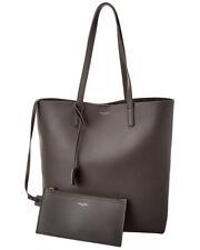 Saint Laurent N/S Leather Shopper Tote Women's Grey