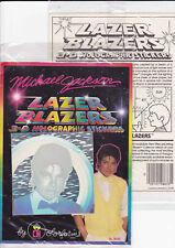 Michael Jackson Autocollant 3D Holographic Sticker Lazer Blazers Hologram 1984
