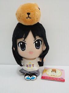 "K-On! Mio Akiyama capybara Banpresto 2011 Plush 6"" TAG Toy Doll japan"