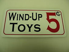 WIND-UP TOYS Vintage Style Metal Sign 4 Collector Dime & General Store Man Cave