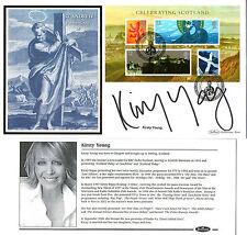 2006 Celebrating ECOSSE signé Kirsty jeune Benham first day cover SHS