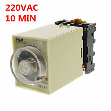 1PCS 220VAC Power off delay timer time relay 0-10min with PF083A Socket Base