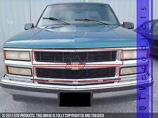 GTG 1994 - 1999 Chevy Tahoe / Suburban / Silverado 2PC Black Billet Grille Kit