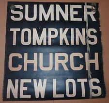 1940's Vintage NYC New York City Trolley Front Destintion Roll Sign SUMNER 1
