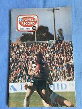 VFL Football Record 1978 St Kilda V Carlton
