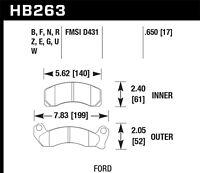 Disc Brake Pad Set-HPS Disc Brake Pad Front Hawk Perf HB263F.650