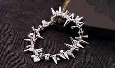 Silver Renegade Cluster Bracelet Stella Spike Pave Beaded Dot Bracelet
