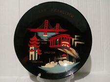 """VINTAGE SAN FRANCISCO SOUVENIR HAND PAINTED HARD PLASTIC BOWL 7 3/4 X 1 1/2"""""""